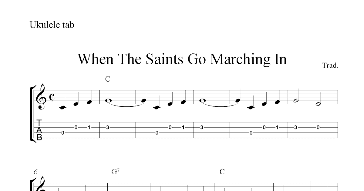 When The Saints Go Marching In Chukuleles