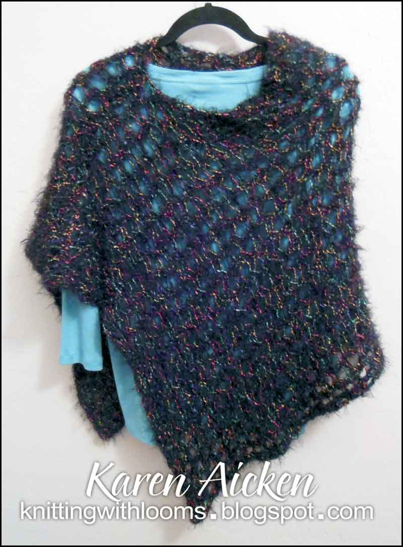 Loom Knitting Poncho : Knitting with looms finished poncho