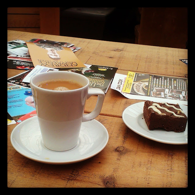 Tea and cake at the Pleasance Dome