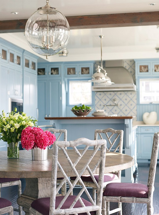 Blue Kitchen Dining Room Chairs