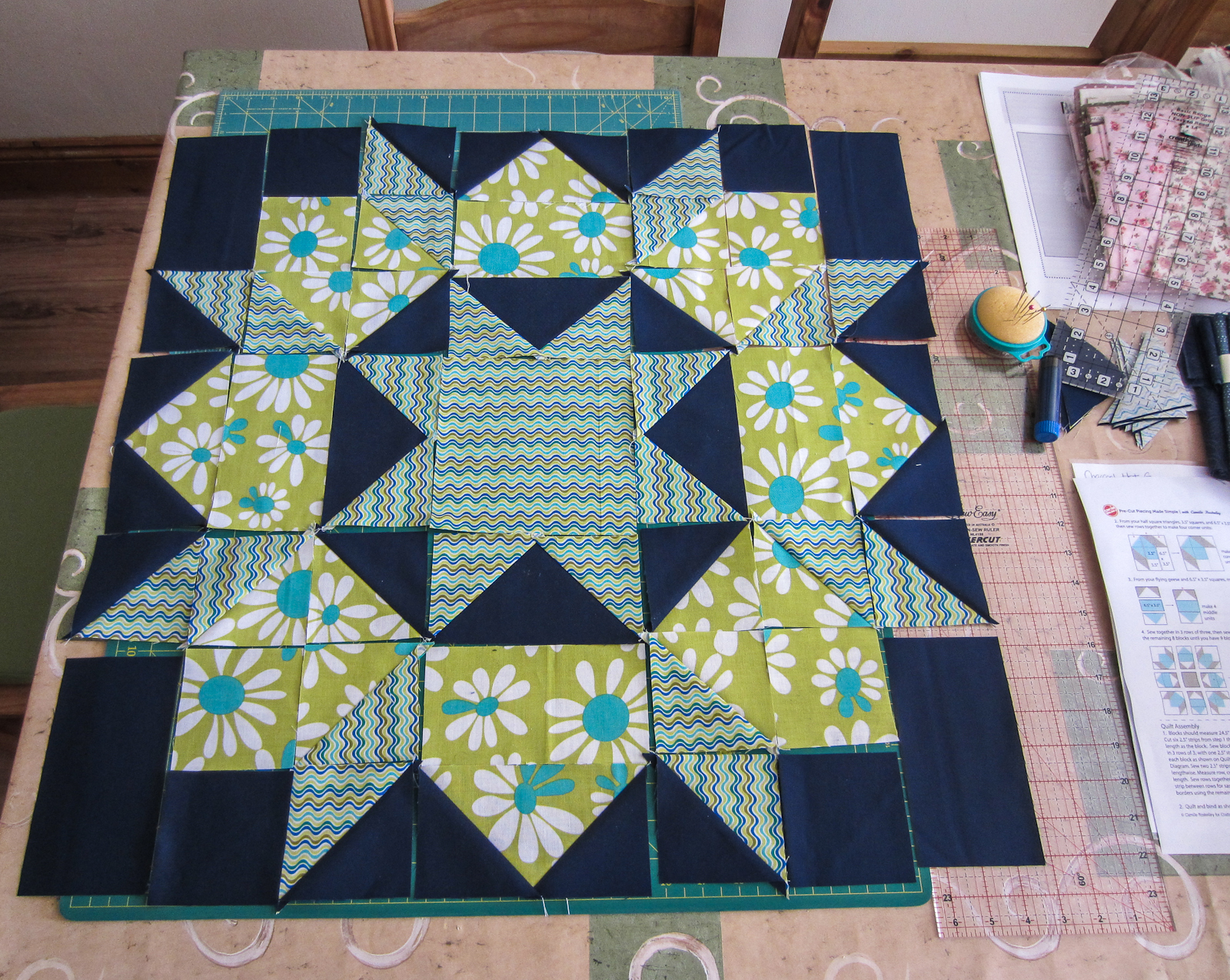 Camille Found It In An Antique Quilt Resized Up To A 24 Block And Simplified The Piecing Make From Squares Half Square Triangles Flying