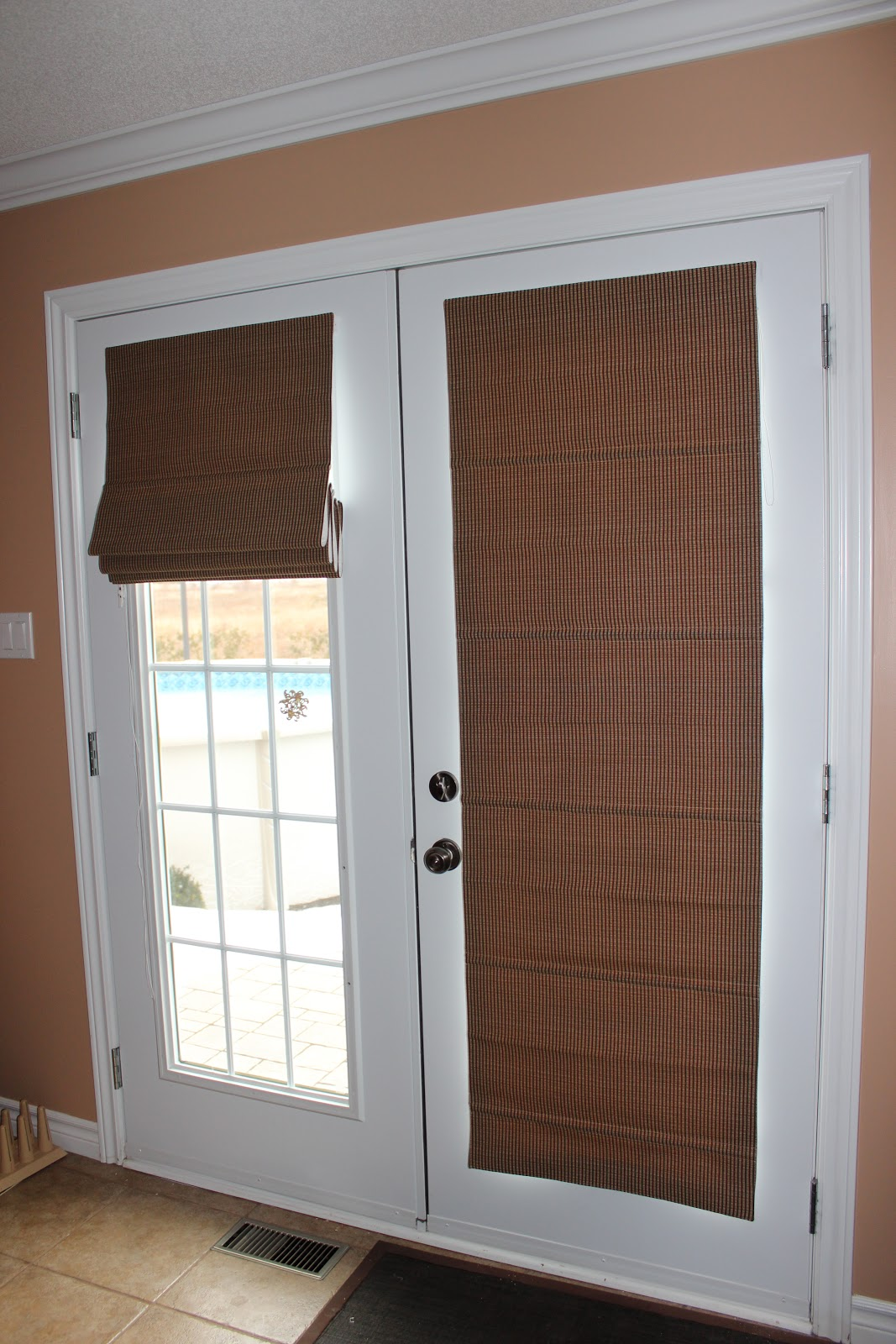 Custom Interiors Roman Shades On French Doors