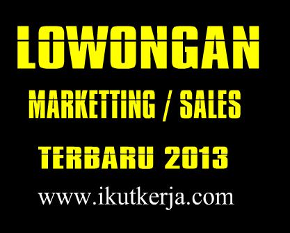 Info Lowongan Marketting Jakarta