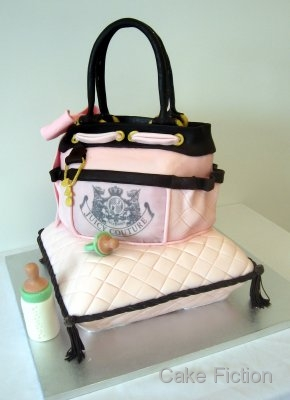 Cake Fiction Juicy Couture Diaper Bag And Pillow