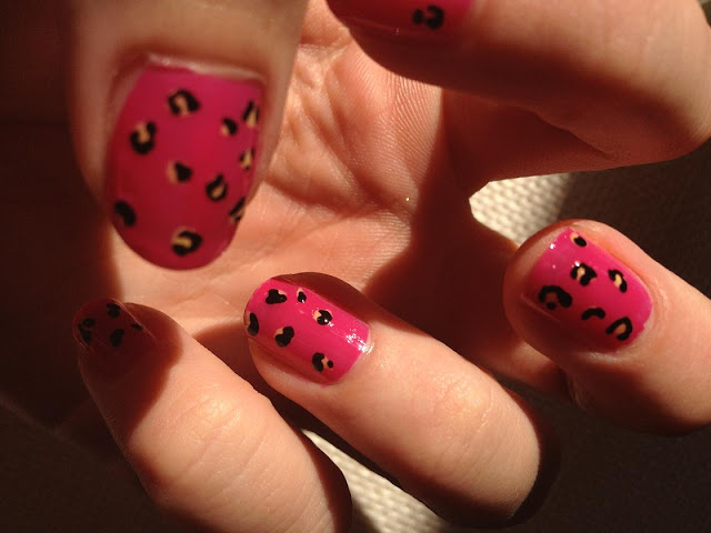 FashionFake, UK beauty blog, easy leopard nails tutorial, easy nail art