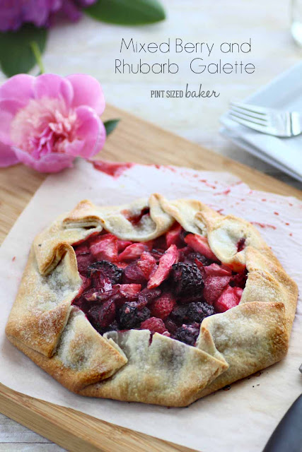 Pies can be such a hassle, that's why I love making Galettes instead. This Fresh Rhubarb and Mixed Berry Galette is a fabulous weeknight dessert.