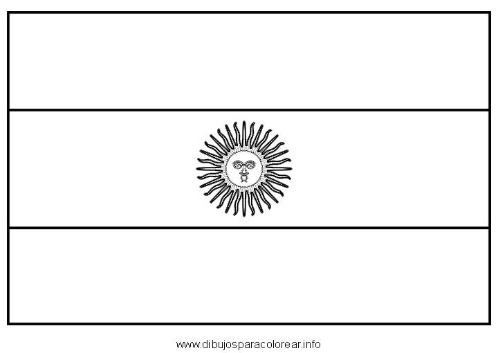 La Bandera De Argentina Para Colorear