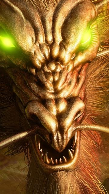 Hình nền con Rồng vàng cho điện thoại