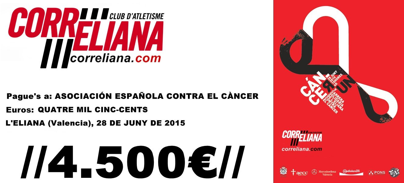 V CÁNCER RUN L'ELIANA -MEMORIAL TONI LASTRA