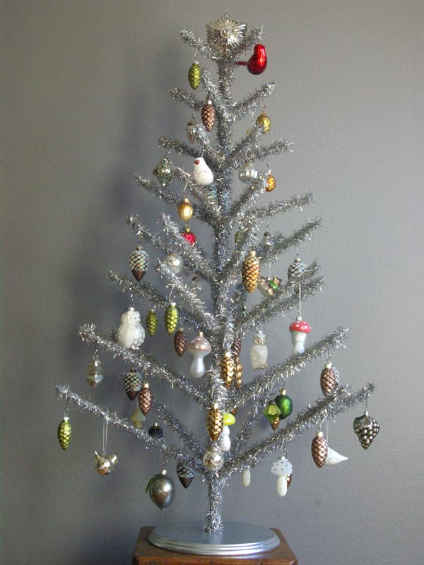 Artificial Silver Christmas Tree