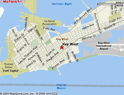 Map of Keywest FL