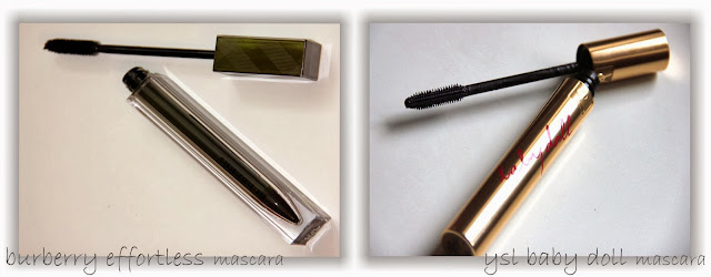 juliadecember choice, swatches, ysl, burberry, ysl mascara, burberry mascara, purple mascara, mascara, тушь,