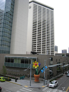 'Urban Garden' sculpture by artist Ginny Ruffner by the Seattle Sheraton
