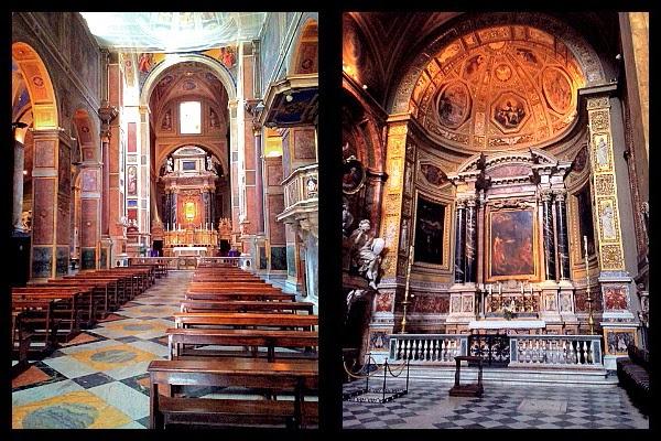 Wnętrze bazyliki S. Agostino w Rzymie