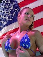 sexy american flag bikini model
