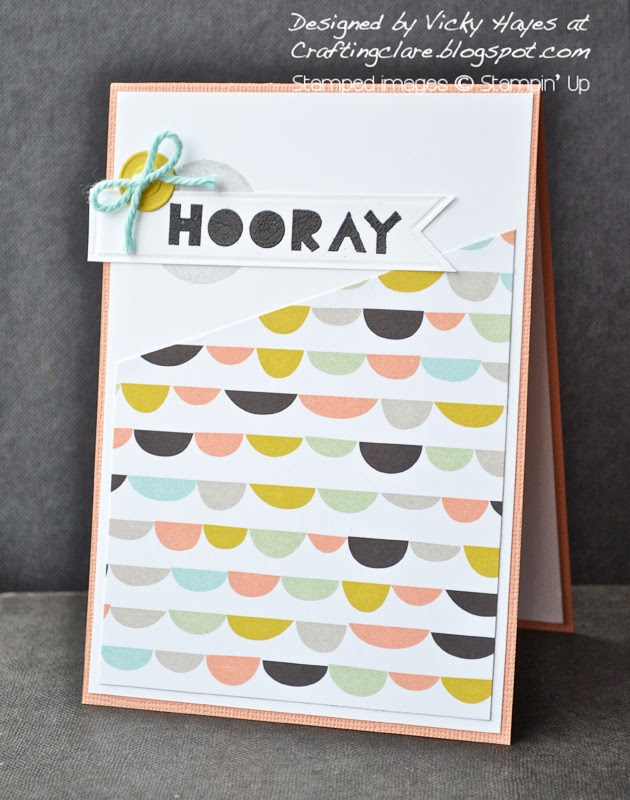Free Stampin' Up Sale-a-bration paper from Vicky Hayes at Crafting Clare's paper moments