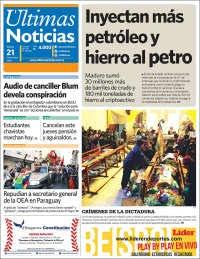 21/11/2019 PRIMERA PAGINA DE ULTIMAS NOTICIAS DE VENEZUELA