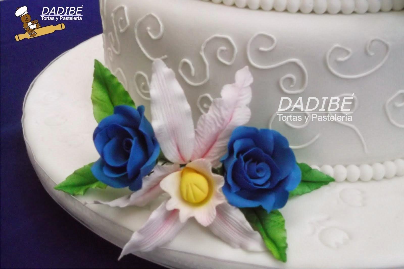 Bouquet de Rosas  y Orquidea para Torta de matrimonio