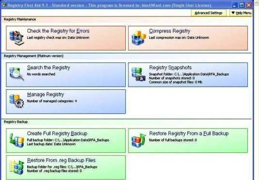 Registry First Aid Serial, License Key Free
