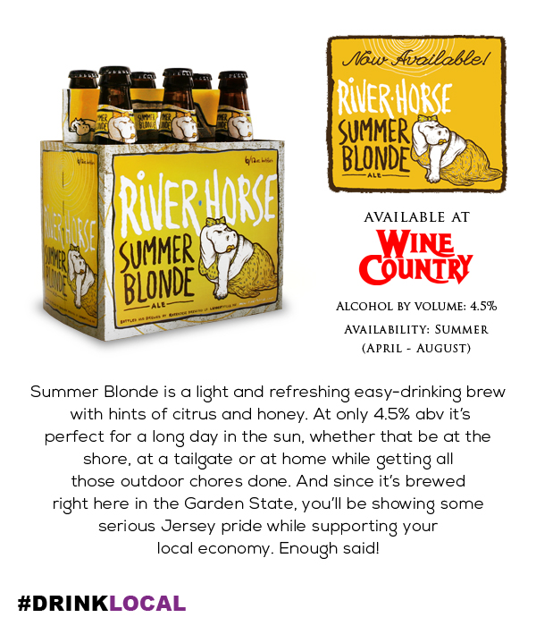 Wine Country New Jersey Got Beer River Horse Summer Blonde Plus