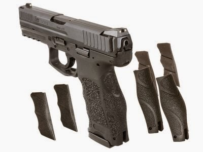 The Heckler & Koch VP9 employs a multipart modular grip.