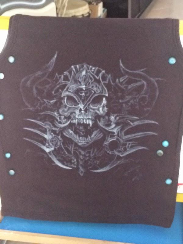 tuto pas a pas aerographe t-shirt thème fitto par bysoairdisign photo 5