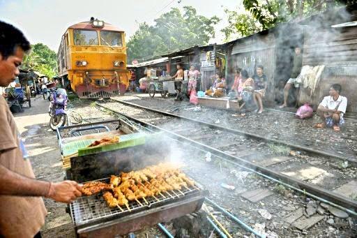 Garküche Eisenbahn Thailand