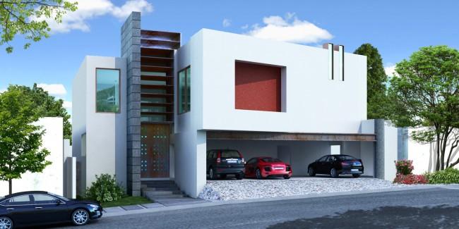 fachadas de casas modernas fachada 3d de casa moderna en