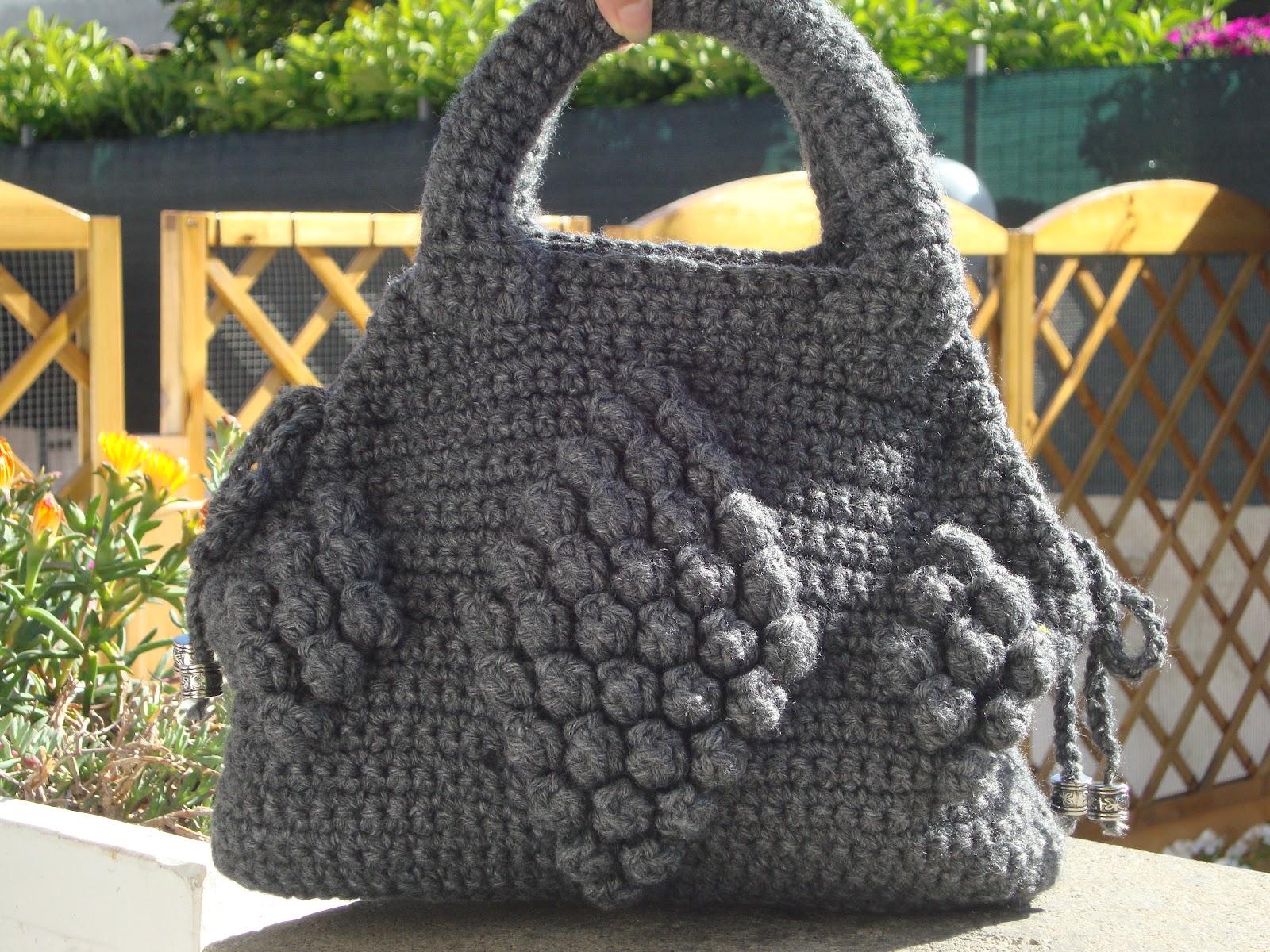 Borse Alluncinetto Con Cotone : L uncinetto di franca borsa in lana all