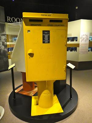 A yellow postal box Singapore