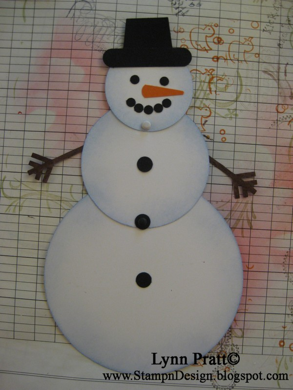 Stamp-n-Design: Mommos' Circle Snowman Card