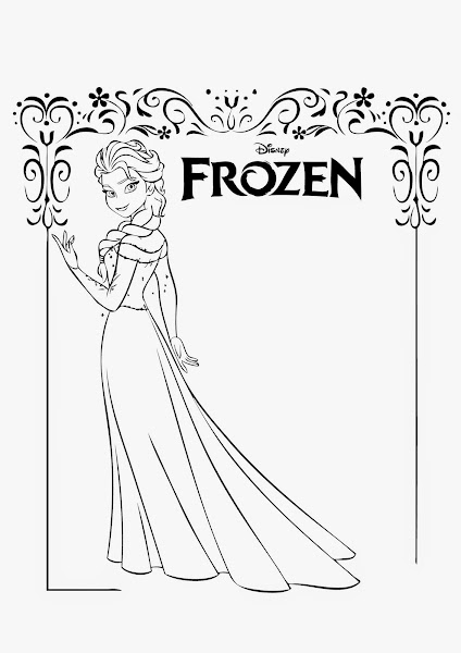 Queen Elsa Coloring Pages To Print