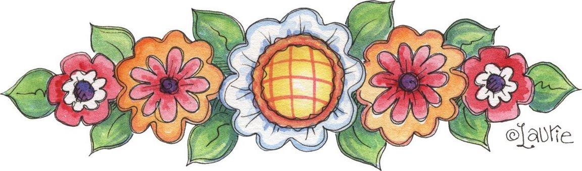 Flores De Colores En Borde Bordes De Flores Para Imprimir