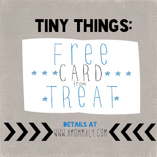 Tiny Things: A Free Card from Treat via amommaly.com