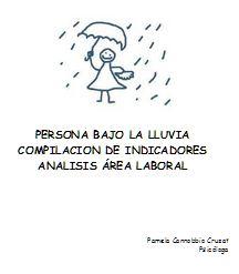 PSICOSYSTEM Persona bajo la lluvia compilacin de indicadores