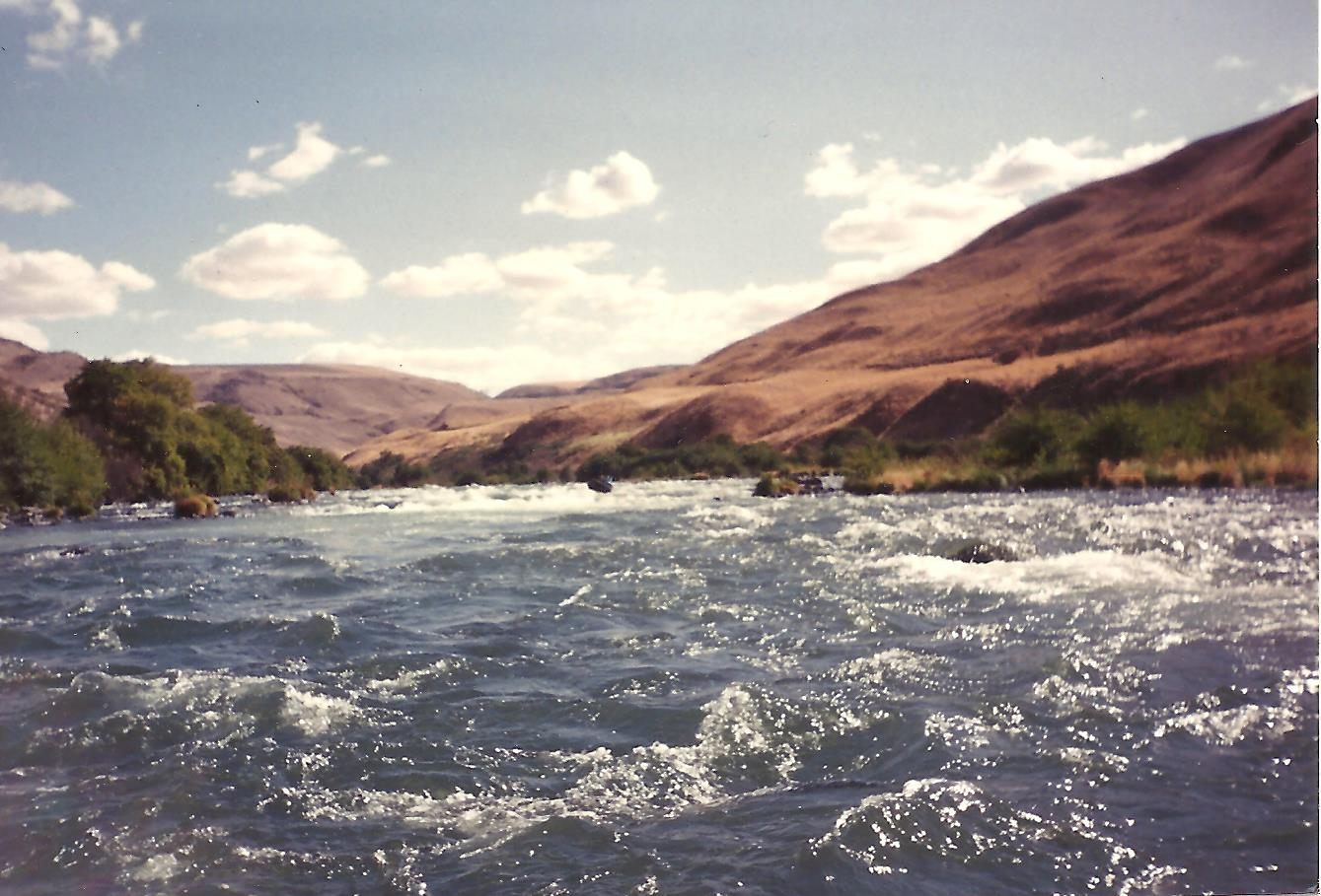 picture of large rapids on the  Deschutes River