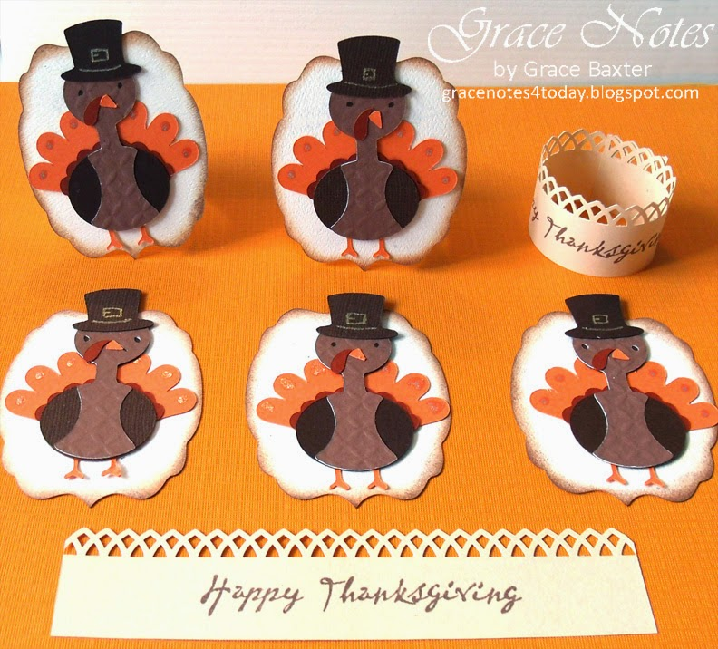 Turkey napkin ring design