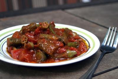 Tomato Bhindi {Vegan} 10