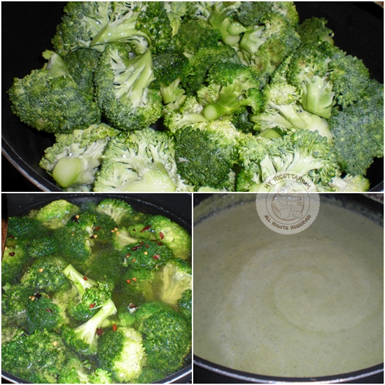Vellutata di broccolo siciliano con gamberetti