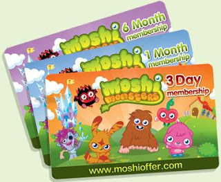 Moshi Monster Membership Card