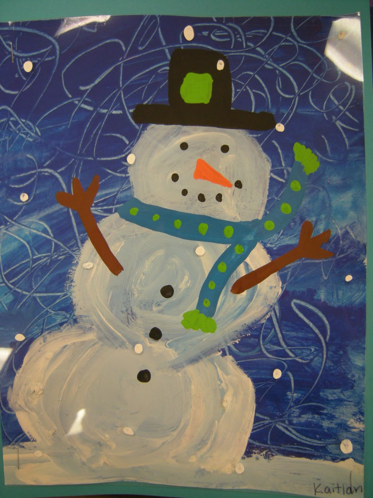 artolazzi dream snow snowman paintings