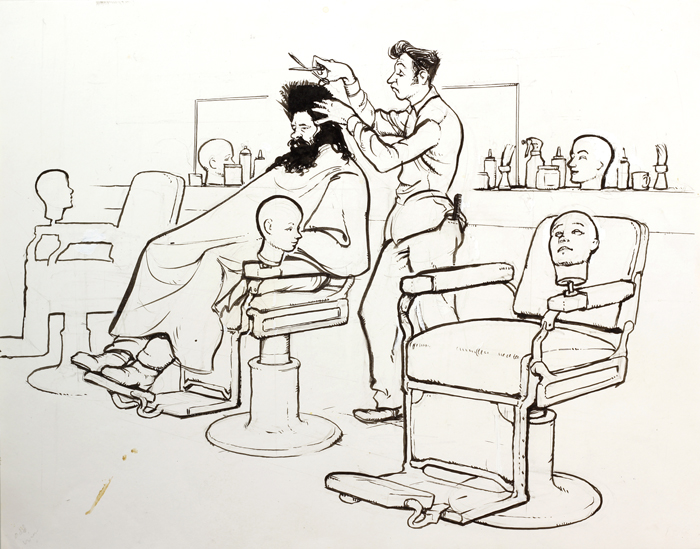 Getting a Haircut Cartoon Was Getting a Haircut
