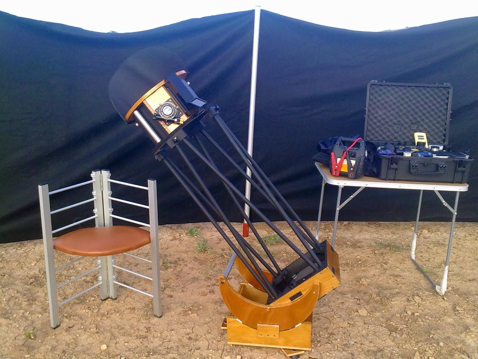 Observaciones astronómicas visuales: Construcción estructura ultra ...