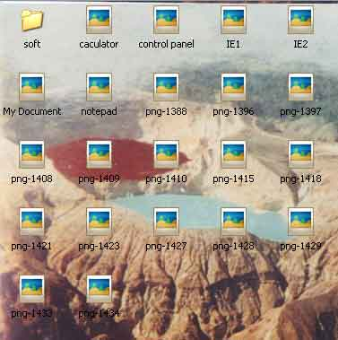 folder dengan background gambar