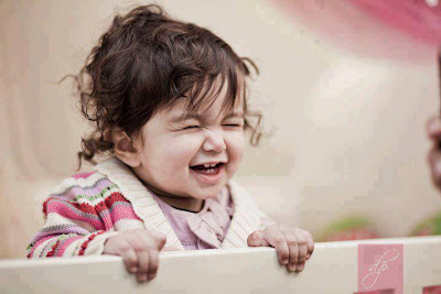 very cute smiling baby