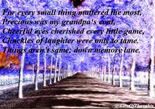 Down Memory Lane - Poem