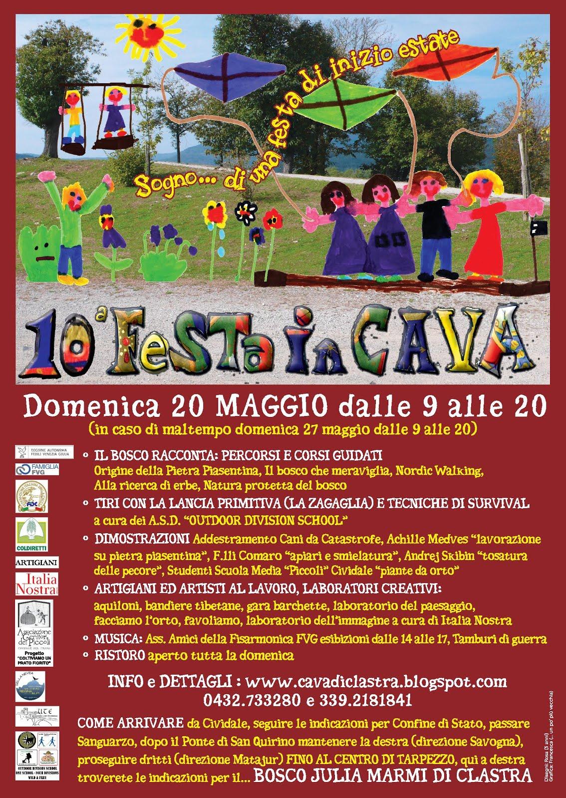 LOCANDINA FESTA IN CAVA 2018