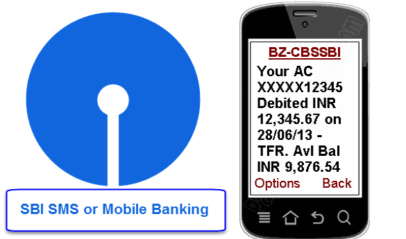 SBI SMS or mobile banking registration