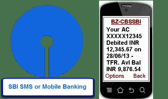 SBI SMS or mobile banking registration