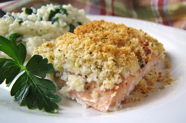 gluten-free panko parmesan salmon